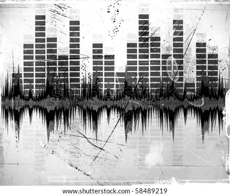 illustration of Equalizer background - stock photo