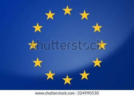 Illustration of European Union flag - stock photo