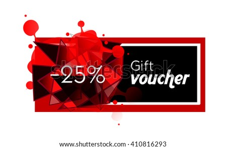 Illustration of gift voucher with 25% discount