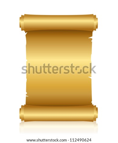 illustration of gold scroll