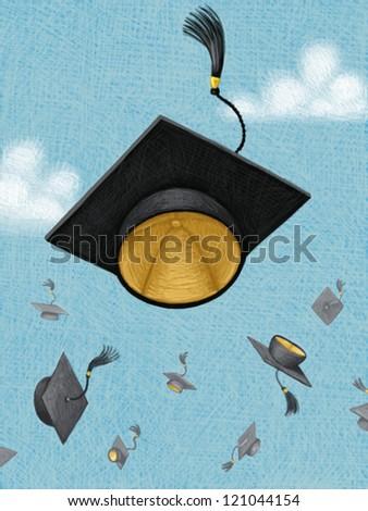 illustration of Graduate - stock photo