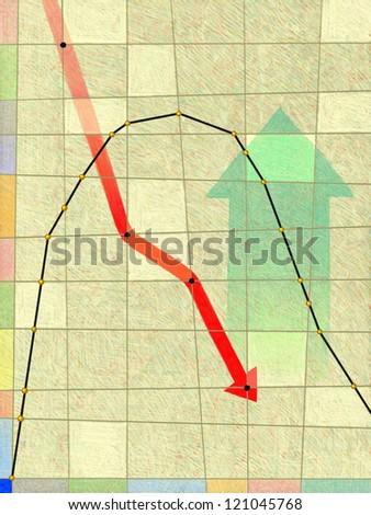 illustration of Graph - stock photo