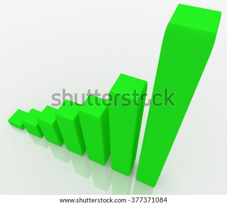 Illustration of graph with the growing progress. Business concepts - stock photo