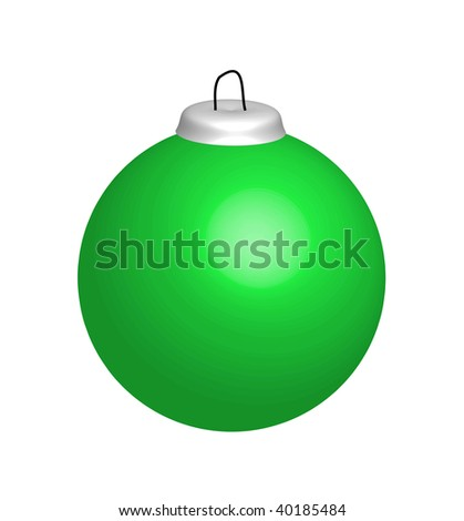 Illustration of green christmas ball