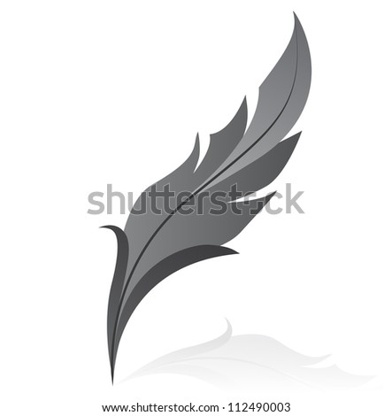 illustration of grey feather