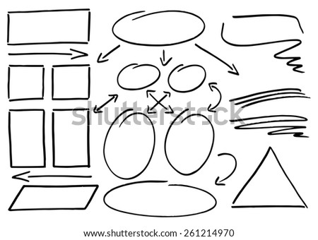 illustration of hand drawn design infographic elements  - stock photo
