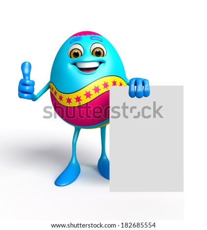 Illustration of Happy Easter Egg with sign