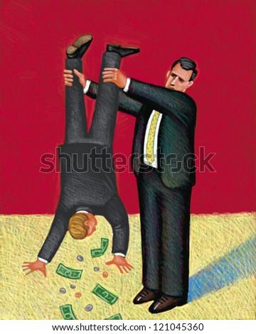 illustration of Hardsell - stock photo