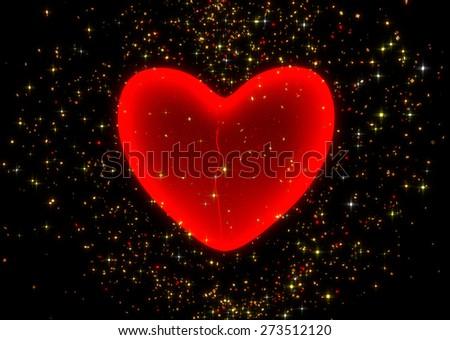 illustration of heal a broken heart - 3d render - stock photo