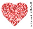 Illustration of heart made from Austrian Flags - stock photo