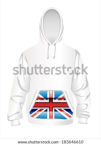 illustration of hoodie. - stock photo