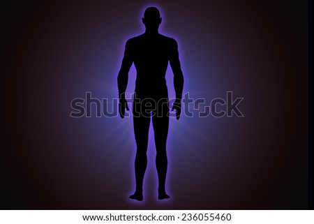 illustration of human energy against a black background