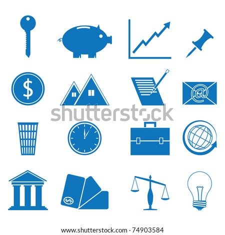 illustration of icons on the subject of Finance