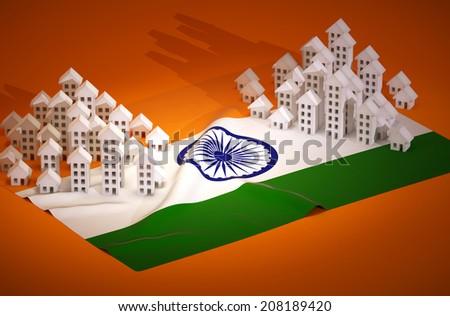 Illustration of indian real-estate development  - stock photo