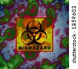 Illustration of infected water and biohazard sign - stock photo
