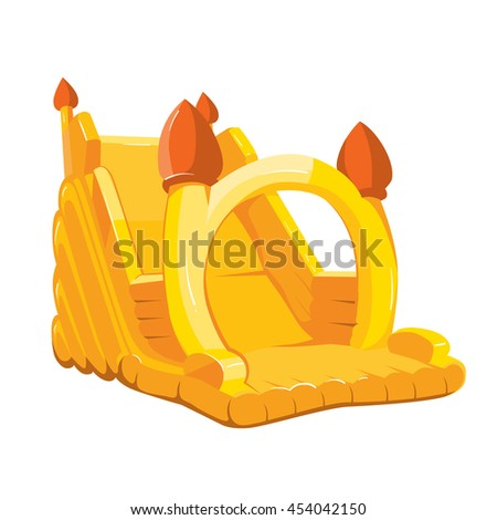 illustration of inflatable castle for playground. Pictures isolate on white background - stock photo