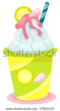 illustration of isolated a smoothly drink on white background
