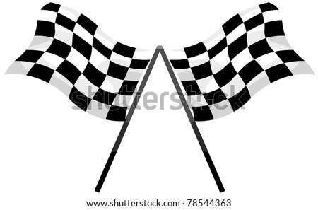 illustration of isolated checkered flag on white background