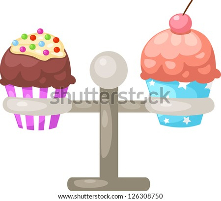 illustration of isolated cupcake . jpg (EPS vector version id 126059228,format also available in my portfolio) - stock photo