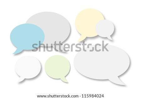 Illustration of isolated dialog clouds - stock photo