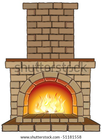 illustration of  Isolated Fireplace (see vector at id=51105775)