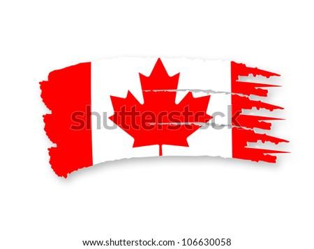 Illustration of Isolated hand drawn Canadian flag - stock photo