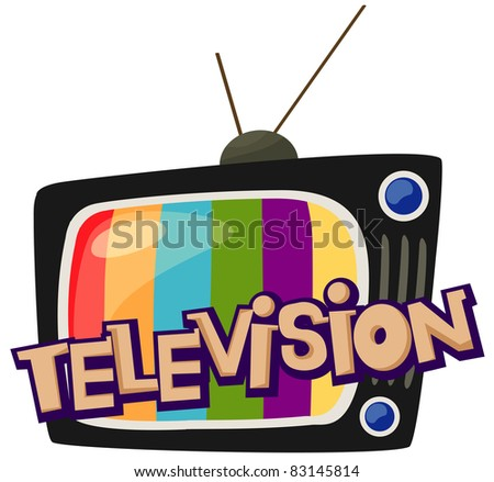 illustration of isolated letter of television  on white background - stock photo