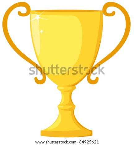 illustration of isolated trophy on white background