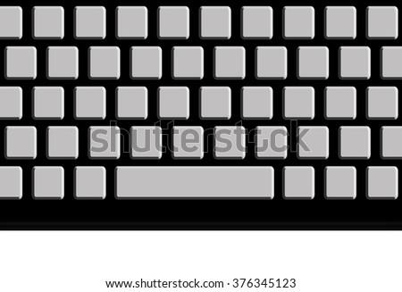 Illustration of keyboard, blank for your letters.message.