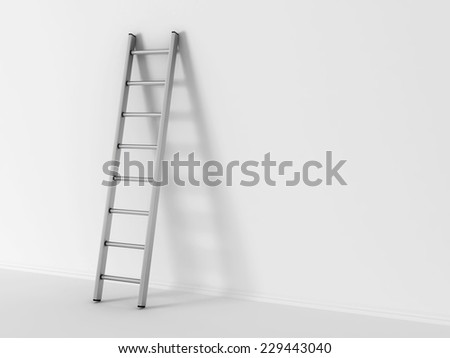 illustration of ladder in square hole over white background