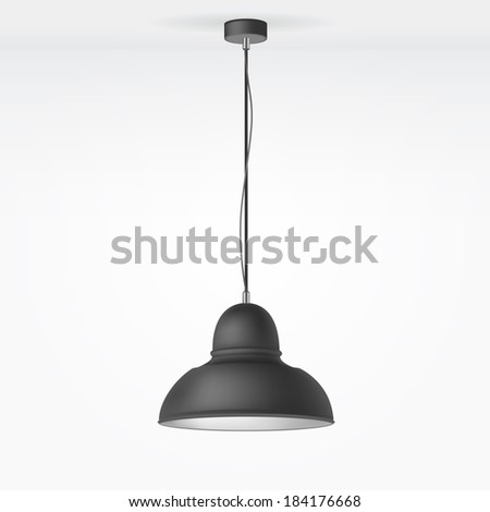 Illustration of Lamp on the Ceiling