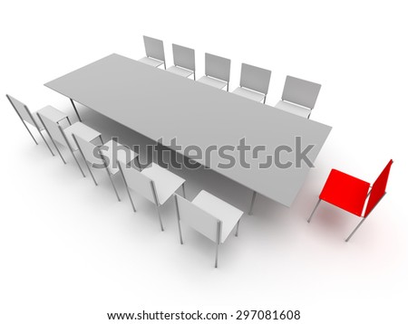 Illustration of leadership in the company - stock photo
