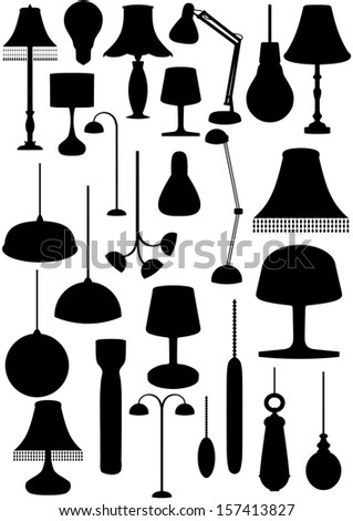 Illustration of many lighting objects