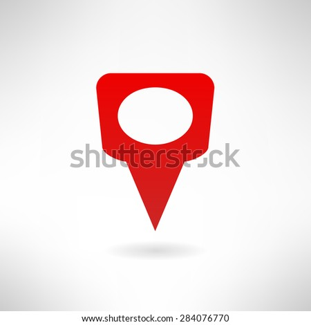 Illustration of map marker icon made in modern flat design. Location concept - stock photo