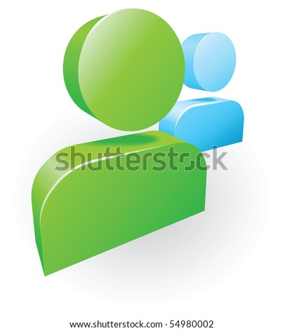 Illustration of messenger people social networking icon