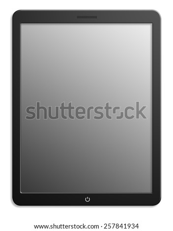 Illustration of modern computer tablet. Isolated on white background - stock photo