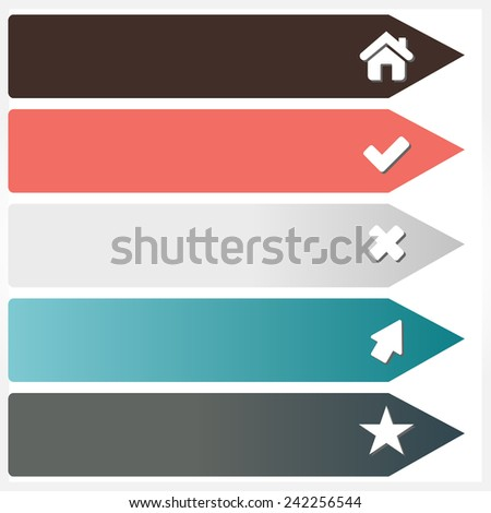Illustration of modern design template