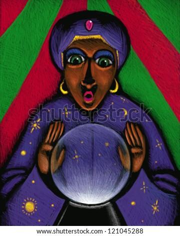 illustration of Mystic - stock photo