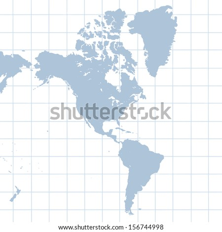 Illustration of north and south american countries - stock photo