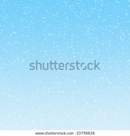 Illustration of of snowflakes falling on graduated blue background
