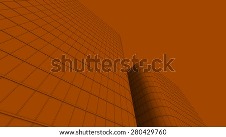 illustration of office building - stock photo