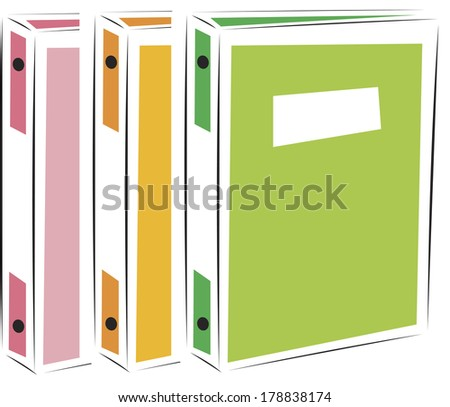 Illustration of office folder