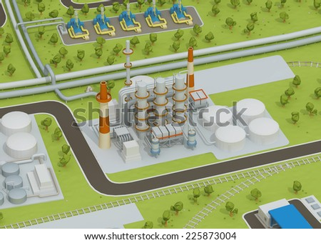 Illustration of oil plant - stock photo