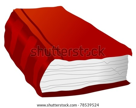 Illustration of old book - stock photo