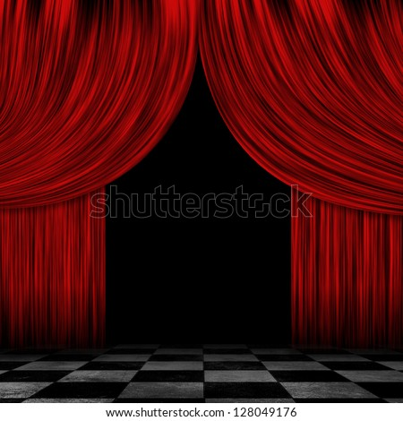 Curtains Ideas black theater curtains : Illustration Open Theater Drapes Stage Curtains Stock Illustration ...