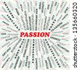 illustration of passion concept. - stock photo