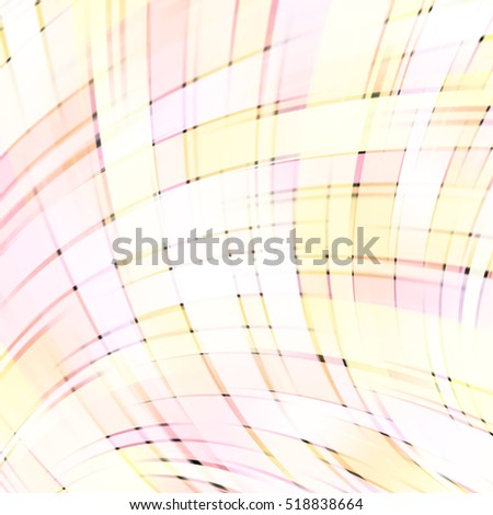 illustration of pastel abstract background with blurred light curved lines. Geometric illustration. Pink, yellow, white colors