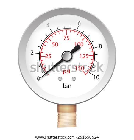 illustration of pressure meter - manometer barometer. iso - stock photo