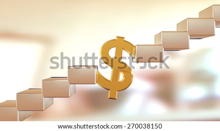 Illustration of problem solving by money. - stock photo
