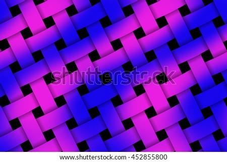 Illustration of purple and dark blue weaved pattern - stock photo